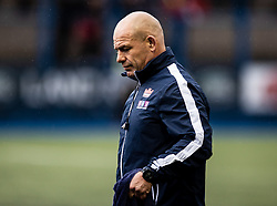 Edinburgh Rugby head coach Richard Cockerill during the pre match warm up<br /> <br /> Photographer Simon King/Replay Images<br /> <br /> Guinness PRO14 Round 2 - Cardiff Blues v Edinburgh - Saturday 5th October 2019 -Cardiff Arms Park - Cardiff<br /> <br /> World Copyright © Replay Images . All rights reserved. info@replayimages.co.uk - http://replayimages.co.uk