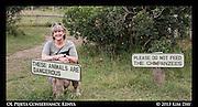 Vicki at Chimp Sanctuary<br /> OL Pejeta Conservancy - Kenya<br /> September 2012