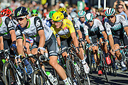 Steve Cummings (centre) of Great Britain and Team Dimension Dataduring the Tour of Britain 2016 stage 8 , London, United Kingdom on 11 September 2016. Photo by Mark Davies.