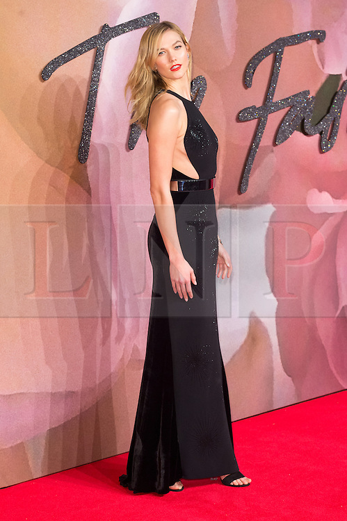 © Licensed to London News Pictures. 05/12/2016. KARLIE KLOSS arrives for The Fashion Awards 2016 celebrating the best of British and international fashion. London, UK. Photo credit: Ray Tang/LNP