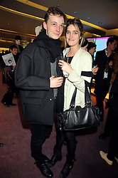 Tim Clifton-Green and VIOLET VON WESTENHOLZ at a party to celebrate the opening of the newly refurbished Prada Store 16/18 Old Bond Street, London on 16th February 2009.