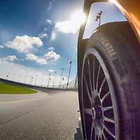 Daytona, FL - Jan 10, 2015:  The Tudor United SportsCar Championship teams take to the track for the The Roar Before The 24 at Daytona International Speedway in Daytona, FL.