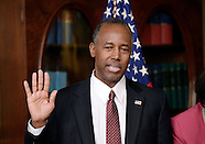 Washington: Ben Carson is sworn in to be secretary of housing and urban development 2 Mar 2017