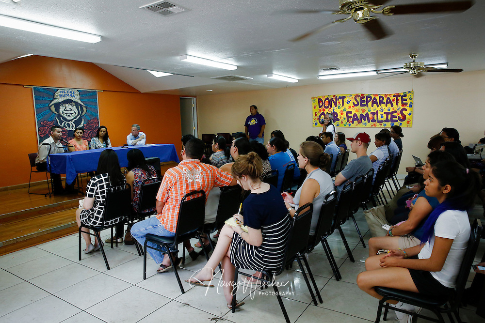 Democratic presidential candidate Martin O'Malley, former governor of Maryland, attends an event with Arizona immigrants and their supporters at the Puente Human Rights Movement center in Phoenix July 18, 2015. (CNS photo/Nancy Wiechec)