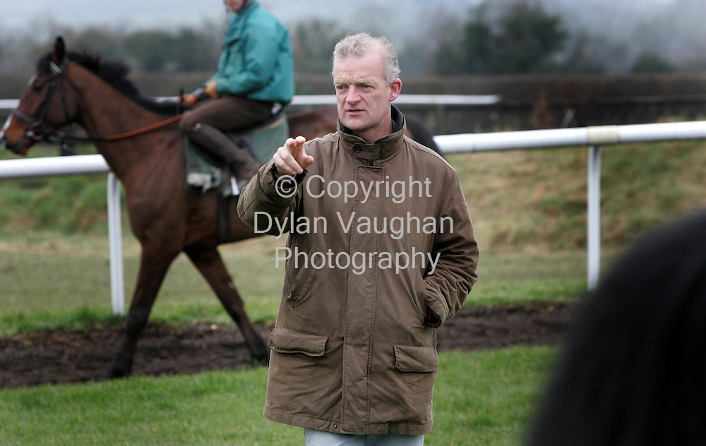 7/3/2006.Willie Mullins pictured on the gallops in Carlow ..Picture Dylan Vaughan.