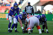 Minnesota Vikings Quarterback  Case Keenum (7) during the International Series match between Cleveland Browns and Minnesota Vikings at Twickenham, Richmond, United Kingdom on 29 October 2017. Photo by Jason Brown.