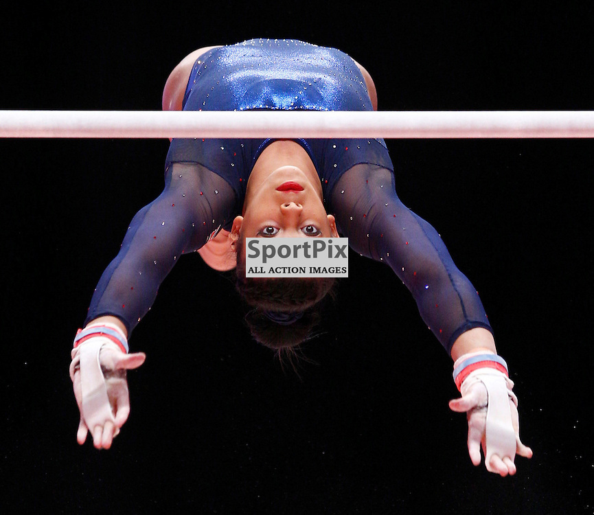 2015 Artistic Gymnastics World Championships being held in Glasgow from 23rd October to 1st November 2015...Elissa Downie (Great Britain) competing in the Uneven Bars competition of the Womens Team Final...(c) STEPHEN LAWSON | SportPix.org.uk