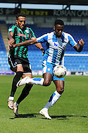 Gavin Massey of Colchester United does battle with Nathaniel Mendez-Laing of Rochdale during the Sky Bet League 1 match between Colchester United and Rochdale at the Weston Homes Community Stadium, Colchester<br /> Picture by Richard Blaxall/Focus Images Ltd +44 7853 364624<br /> 08/05/2016