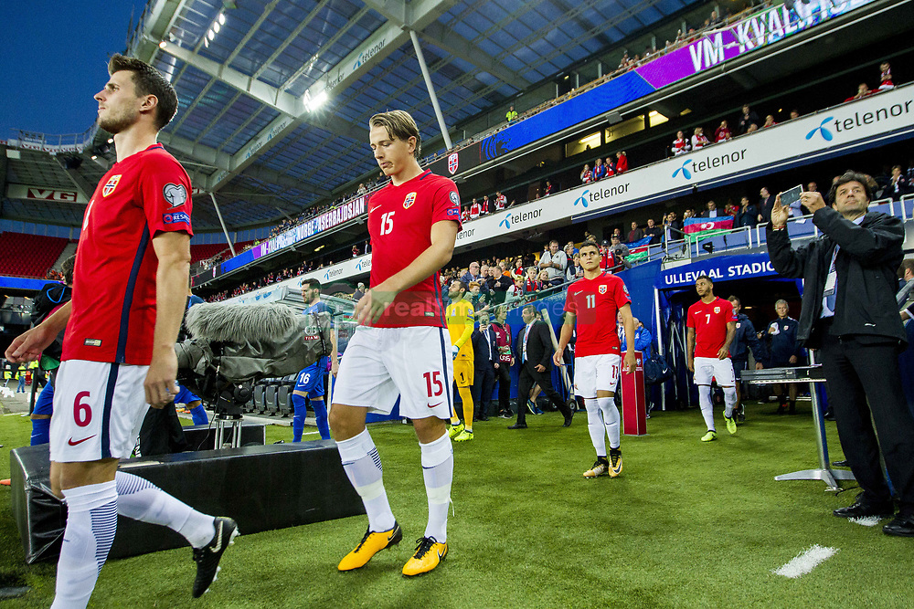 September 1, 2017 - Oslo, NORWAY - 170901 Sander Berge of Norway ahead of the FIFA World Cup Qualifier match between Norway and Azerbaijan on September 1, 2017 in Oslo. .Photo: Vegard Wivestad GrÂ¿tt / BILDBYRN / kod VG / 170000 (Credit Image: © Vegard Wivestad Gr¯Tt/Bildbyran via ZUMA Wire)