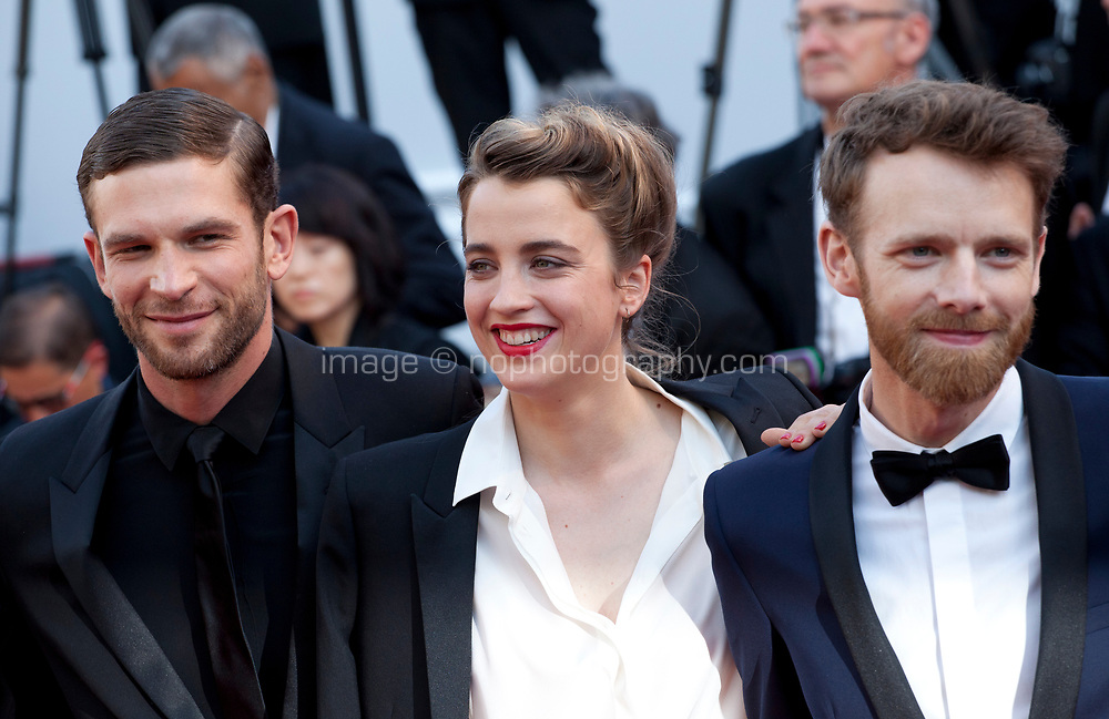 Arnaud Valois, Adele Haenel, director Robin Campillo arriving to the Closing Ceremony and awards at the 70th Cannes Film Festival Sunday 28th May 2017, Cannes, France. Photo credit: Doreen Kennedy