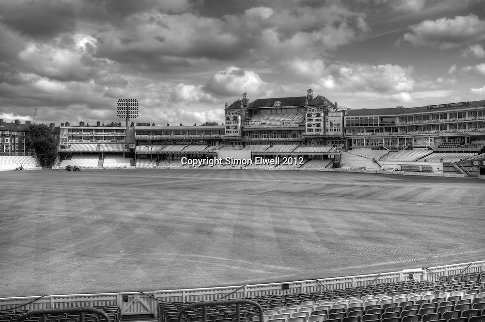 The famous Kennington Oval cricket ground stands empty in October, after the cricket season has ended
