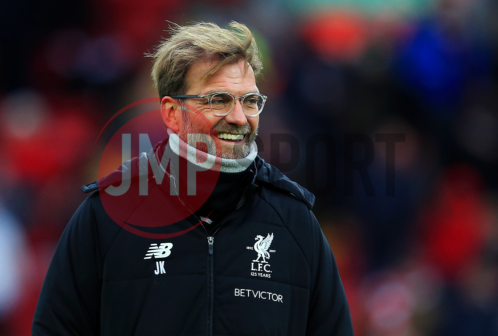Liverpool manager Jurgen Klopp - Mandatory by-line: Matt McNulty/JMP - 30/12/2017 - FOOTBALL - Anfield - Liverpool, England - Liverpool v Leicester City - Premier League