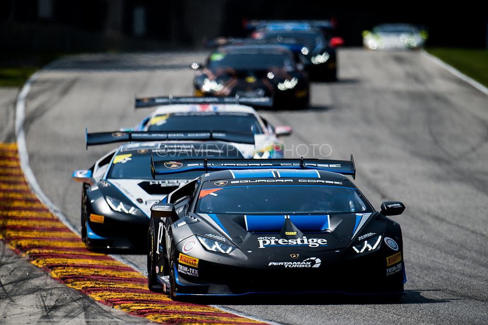 August 4-6, 2017: Lamborghini Super Trofeo at Road America. Trent Hindman, Riccardo Agostini (Pro), Prestige Performance, Lamborghini Paramus, Lamborghini Huracan LP620-2