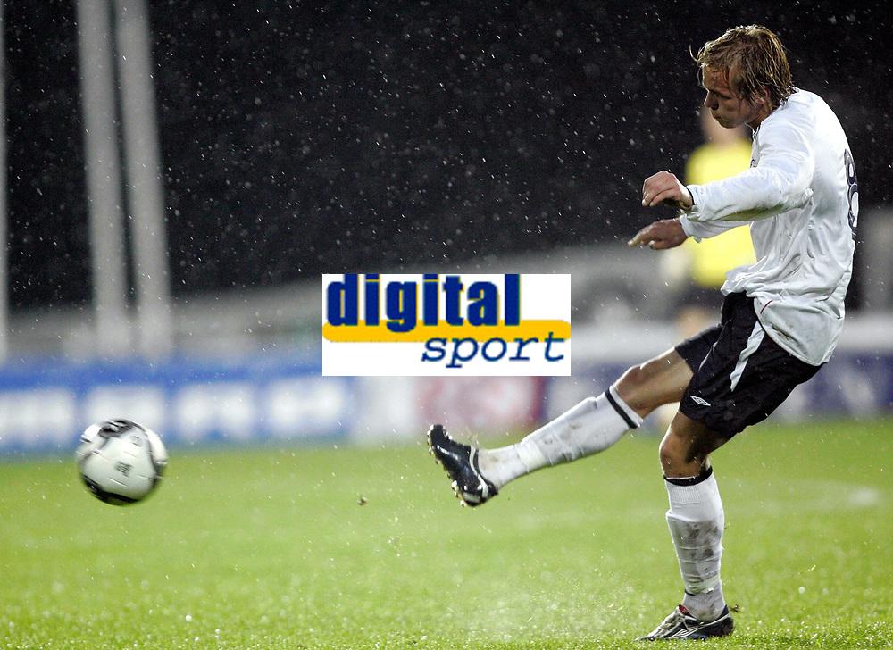 Fotball<br /> EM-kvalifisering G18 / U19<br /> Portugal v Norge 2-2<br /> Norge puljevinner<br /> Nadderud Stadion<br /> 09.10.2006<br /> Foto: Morten Olsen, Digitalsport<br /> <br /> Christer Kleiven - Start