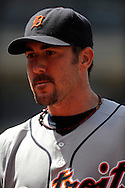 Justin Verlander of the Detroit Tigers..The Cleveland Indians defeated the Detroit Tigers 9-4 on Thursday, July 31, 2008 at Progressive Field in Cleveland.