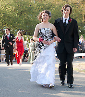 (Karen Bobotas/for the Laconia Daily Sun)Laconia High School Junior Prom grand march at Steele Hill Resort Sanbornton May 13, 2011.