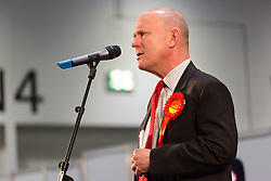 © Licensed to London News Pictures. 12/06/2015. London, UK. Labour's JOHN BIGGS makes a speech at the Excel Centre in London. Lutfur Rahman was removed from office for fraud and corrupt practices by an election court earlier this year and the 2014 election was rerun as a result. Photo credit : Vickie Flores/LNP