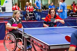 (Team SVK) KANOVA Alena and HABETINKOVA TOMIC Spomenka in action during 15th Slovenia Open - Thermana Lasko 2018 Table Tennis for the Disabled, on May 11, 2018 in Dvorana Tri Lilije, Lasko, Slovenia. Photo by Ziga Zupan / Sportida