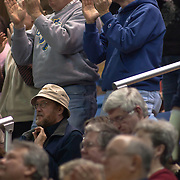 Delaware fans applause the Delaware 75-57 victory over Towson Wednesday night at The Bob Carpenter Center In Newark Delaware...Special to The News Journal/SAQUAN STIMPSON