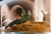 A Statue is seen in the Logan Circle fountain at night in Philadelphia, Pennsylvania on May 27th 2012. (Photo by Brian Garfinkel)
