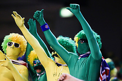 © Licensed to London News Pictures. 26/12/2013. Australian fans cheering during the 2nd T20 international between Australia Vs England at the Melbourne Cricket Ground, Victoria, Australia. Photo credit : Asanka Brendon Ratnayake/LNP