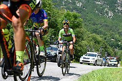 Kristabel Doebel-Hickok (Cylance Pro Cycling) through gritted teeth at Giro Rosa 2016 - Stage 6. A 118.6 km road race from Andora to Alassio, Italy on July 7th 2016.