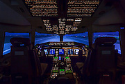 Boeing 767-400ER Simulator, built by CAE in Canada.  Created at the Delta Airlines Training Facility in Atlanta, Georgia.  Created by aviation photographer John Slemp of Aerographs Aviation Photography. Clients include Goodyear Aviation Tires, Phillips 66 Aviation Fuels, Smithsonian Air & Space magazine, and The Lindbergh Foundation.  Specialising in high end commercial aviation photography and the supply of aviation stock photography for commercial and marketing use.