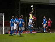 06/10/2017 - St Johnstone v Dundee - Dave Mackay testimonial at McDiarmid Park, Perth, Picture by David Young - St Johnstone's Murray Davidson punches clear as assistant manager Graham Gartland challenges