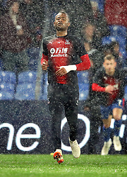 """Crystal Palace's Jordan Ayew warming up before the Premier League match at Selhurst Park, London. PRESS ASSOCIATION Photo. Picture date: Saturday November 10, 2018. See PA story SOCCER Palace. Photo credit should read: John Walton/PA Wire. RESTRICTIONS: EDITORIAL USE ONLY No use with unauthorised audio, video, data, fixture lists, club/league logos or """"live"""" services. Online in-match use limited to 120 images, no video emulation. No use in betting, games or single club/league/player publications."""