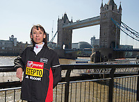 Virgin Money London Marathon 2015<br /> <br /> At a press conference featuring the the leading British contenders for the London Marathon.<br /> <br /> Emma Stepto UK<br /> <br /> Photo: Bob Martin for Virgin Money London Marathon<br /> <br /> This photograph is supplied free to use by London Marathon/Virgin Money.