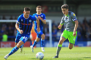 Ian Henderson and George Dobson during the EFL Sky Bet League 1 match between Rochdale and Walsall at Spotland, Rochdale, England on 25 August 2018.