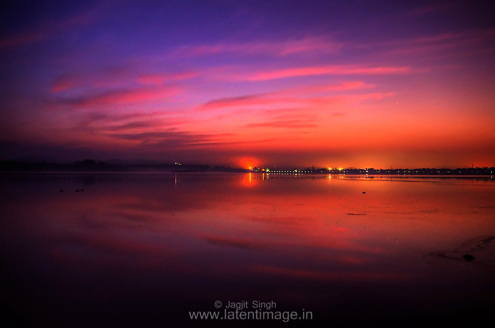 Early morning during winter at Sukhna lake, Chandigarh.