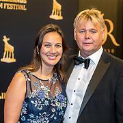 NLD/Utrecht/20160930 - inloop NFF 2016 L'OR Gouden Kalveren Gala, Willem de Beukelaer en partner