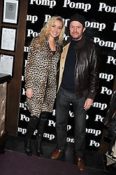 NOELLE RENO and SCOT YOUNG at a party to celebrate the launch of Pomp magazine - a magazine representing London Luxury without the Ceremony focusing on the luxury, fashion and culture of the Capital, hosted by Tom Parker Bowles and the Directors of Pomp Magazine held at The Cuckoo Club, Swallow Street, London on 17th November 2011.