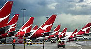 Copyright JIm Rice © 2013. Qantas aircraft hanger Sydney