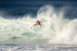 Tatiana Weston-Webb (HAW) is eliminated from the 2018 Roxy Pro France finished with an equal 5th after placing second in Quarterfinal Heat 4 in Hossegor, France.
