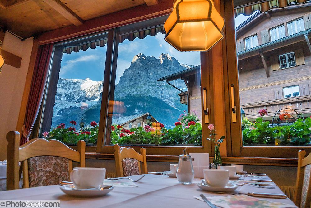 Hotel Gletschergarten, Grindelwald, Switzerland, the Alps, Europe.