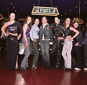 Group of teenagers girls in arcade, Cardiff 2000's
