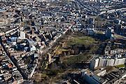 Nederland, Gelderland, Nijmegen, 07-03-2010; Nijmegen, binnenstad met onder in beeld Kronenburgpark..Nijmegen, inner city..luchtfoto (toeslag), aerial photo (additional fee required).foto/photo Siebe Swart