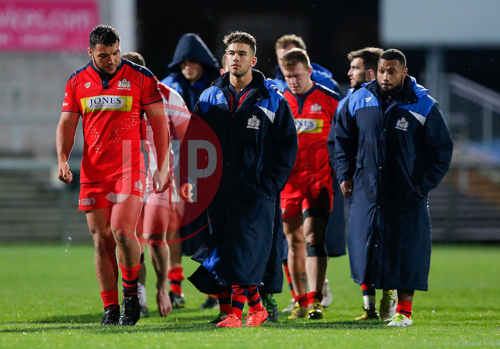 Bristol Rugby Inside Centre Ben Mosses (capt) looks dejected after Bristol lose the match 30-5 - Mandatory byline: Rogan Thomson/JMP - 13/11/2015 - RUGBY UNION - Kingspan Stadium - Belfast, Northern Ireland - Ulster Ravens v Bristol Rugby - The British & Irish Cup Pool 2.