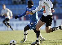 Fotball<br /> Adeccoligaen 2008<br /> 01.11.2008<br /> Sandefjord v Hønefoss 0-0<br /> Foto: Morten Olsen, Digitalsport<br /> <br /> Malick Mane - Sandefjord