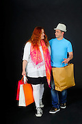 Comic Couple out shopping
