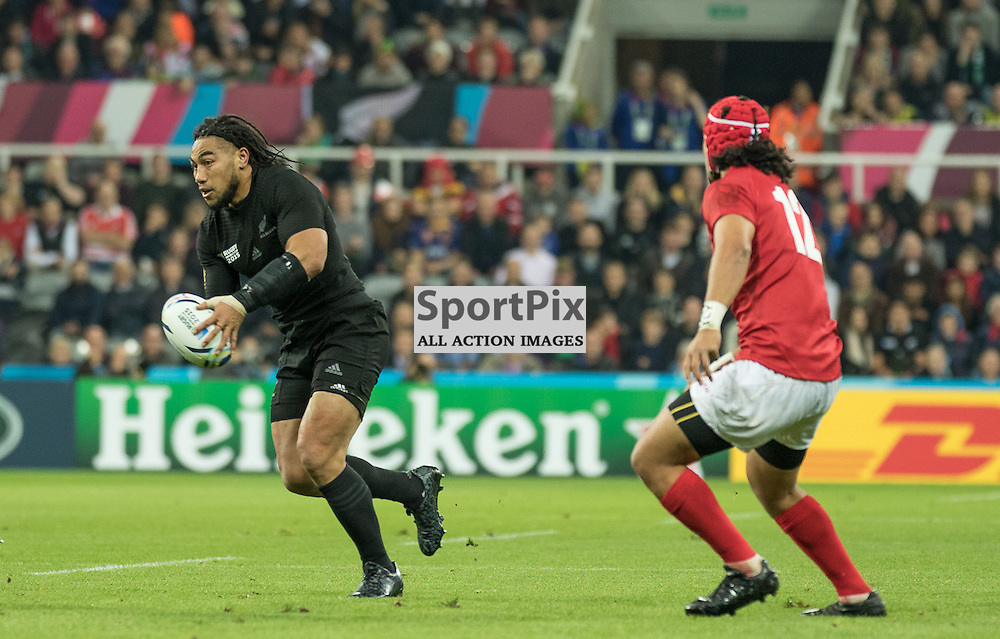 New Zealand #12 Ma'a Nonu carries the ball.<br /> New Zealand v Tonga, 9th October 2015