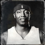 Sep 29, 2014; Auburn Hills, MI, USA;  (Editor's Note: Photo was post-processed creating a digital tintype) Detroit Pistons forward Caron Butler (31) during media day at the Pistons practice facility. Mandatory Credit: Rick Osentoski-USA TODAY Sports