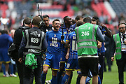 AFC Wimbledon defender Callum Kennedy (3) during the Sky Bet League 2 play off final match between AFC Wimbledon and Plymouth Argyle at Wembley Stadium, London, England on 30 May 2016.