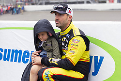 June 10, 2018 - Brooklyn, Michigan, U.S - NASCAR driver PAUL MENARD (21) waits for the rain to clear up at Michigan International Speedway. (Credit Image: © Scott Mapes via ZUMA Wire)