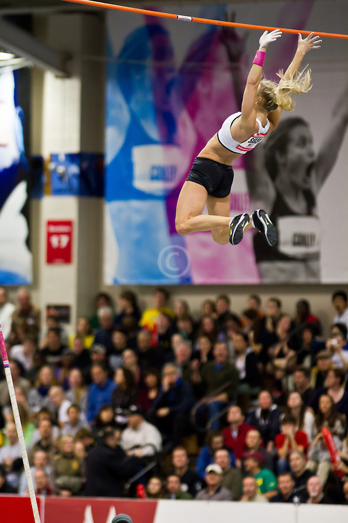 New Balance Indoor Grand Prix track meet: Women's Pole Vault, Mary Saxer clears