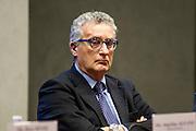 Rome dec 15th 2015, Direzione Investigativa Antimafia (Anti-Mafia Investigations Bureau) annual report. In the picture Franco Roberti