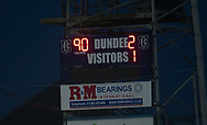 August 9th 2017, Dens Park, Dundee, Scotland; Scottish League Cup Second Round; Dundee versus Dundee United; Scoreboard at full time