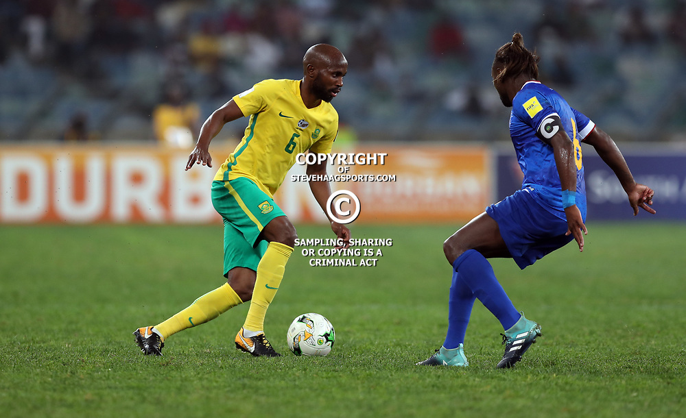 Ramahlwe Mphahlele of South Africa (Bafana Bafana) during the 2018 Football World Cup qualifier  match between South Africa (Bafana Bafana)  and Cape Verde Islands,at the Moses Mabhida Stadium in Durban South Africa Tuesday, September 5,2017.  (Photo by Steve Haag)
